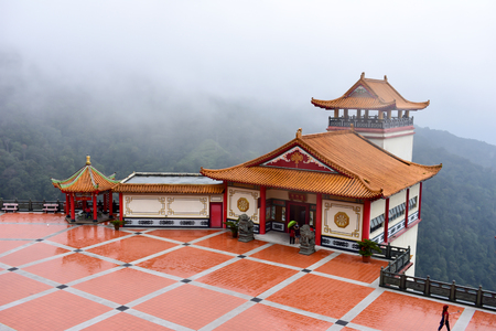 Genting Highlands, Malaysia - November 2, 2017: Chin Swee Caves Temple View from top mountain Editorial