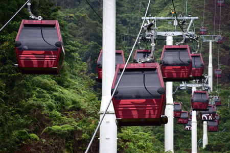 Genting Highlands, Malaysia - November 2, 2017: Awana Skyway Cable Car Genting Highlands 報道画像