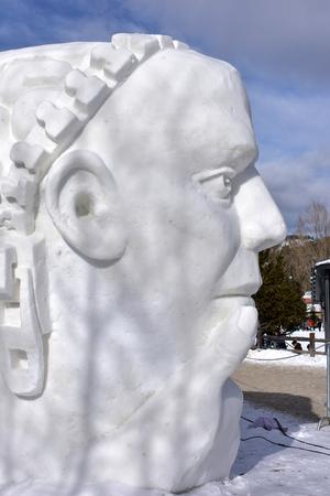Breckenridge, Colorado, USA: Jan 28, 2018: 2018 Team Turkey presented: Mindful Snow Sculpture Editorial