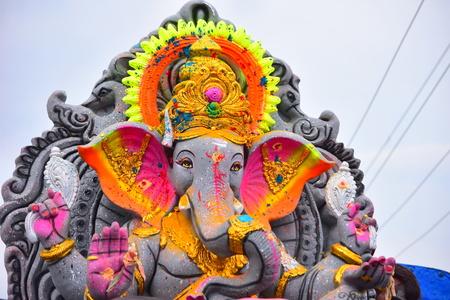 Anaipatti, Tamilnadu - India - September 15 2018: Idol of Hindu Lord Ganesha