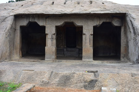 Chennai, Tamilnadu - India - September 09, 2018: Kodi Mandapam in Mahabalipuram