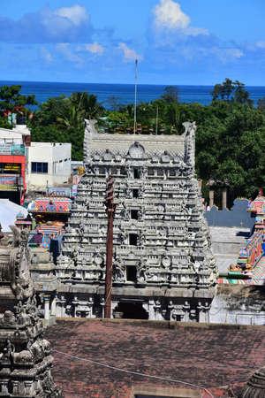 Chennai, Tamilnadu - India - September 09, 2018: Sri Sthala Sayana Perumal Temple