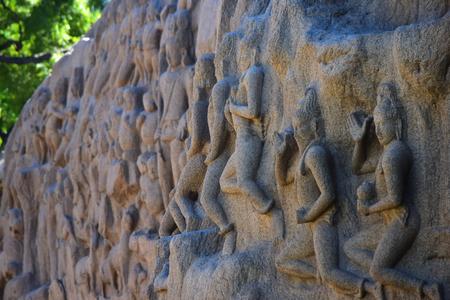Chennai, Tamilnadu - India - September 09, 2018: Rock cut Temple in Mahabalipuram