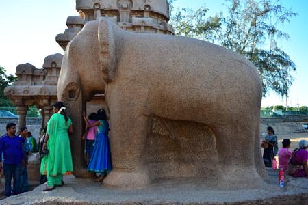 Chennai, Tamilnadu - India - September 09, 2018: Five Ratham in Mahabalipuram