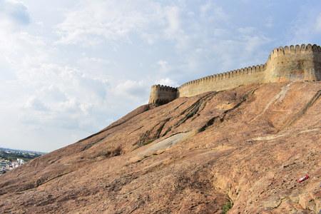 Namakkal, Tamilnadu - India - October 17, 2018: Namakkal Fort