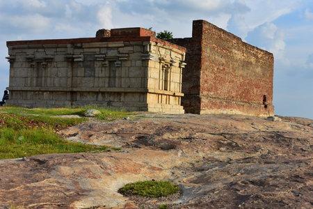 Namakkal, Tamilnadu - India - October 17, 2018: Narasimha Murthy Temple in Fort 新聞圖片