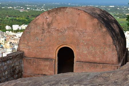 Namakkal, Tamilnadu - India - October 17, 2018: Namakkal Dhurgam Fort
