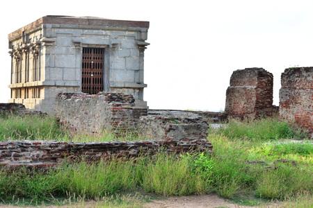Namakkal, Tamilnadu - India - October 17, 2018: Narasimha Murthy temple in Namakkal Fort