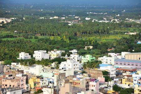 Namakkal, Tamilnadu - India - October 17, 2018: Namakkal View from Hillock
