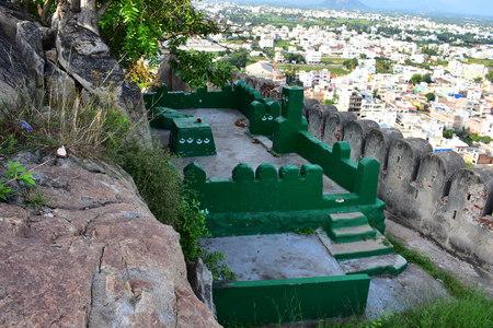Namakkal, Tamilnadu - India - October 17, 2018: Mosque in Namakkal Fort 新聞圖片