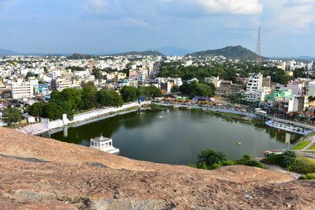 Namakkal, Tamilnadu - India - October 17, 2018: Kamalalaya Kulam