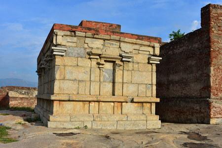 Namakkal, Tamilnadu - India - October 17, 2018: Narasimha Murthy Temple