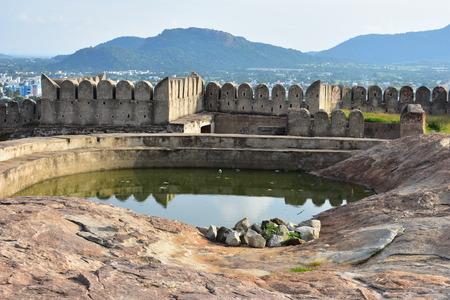 Namakkal, Tamilnadu - India - October 17, 2018: Namakkal Fort Side view 新聞圖片