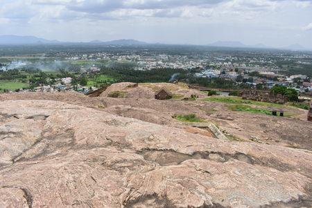 Dindigul, Tamilnadu, India - July 13, 2018: Dindigul Rockfort