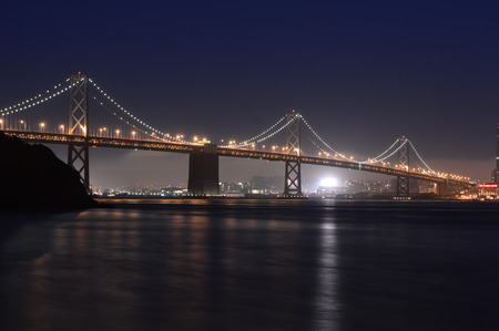 San Francisco, California, USA - August 31, 2015: Treasure Island San Francisco Bay Bridge Reklamní fotografie