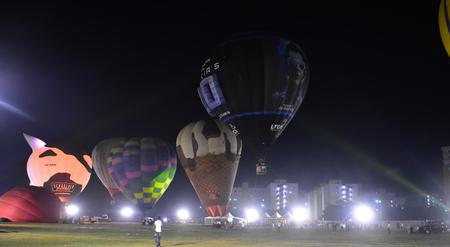 Chennai, Tamilnadu - India, January 6, 2019 : Hot Air Ballon Festival
