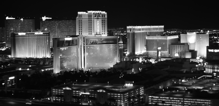 Las Vegas, Nevada, USA - May 26, 2014: View of Las Vegas Strip from Voodo Bar in the Rio