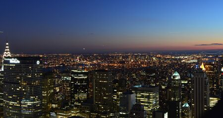 New York City, USA , December 14, 2014: New York City and the Empire State Building view from Rockefeller Center Stok Fotoğraf