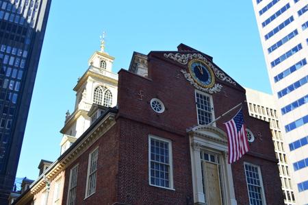 Boston, Massachusetts, USA - October 6, 2014: The Old State House