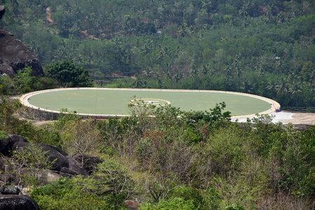 Kollam, Kerala, India - March 2, 2019 : Helipad in Jatayu Nature Park