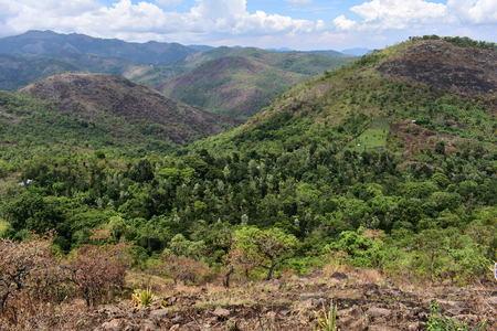 Panorama view of the beautiful hills from Kodaikanal 免版税图像