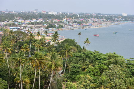 Kollam, Kerala, India: March 2, 2019 - A view from the Tangasseri lighthouse Stok Fotoğraf