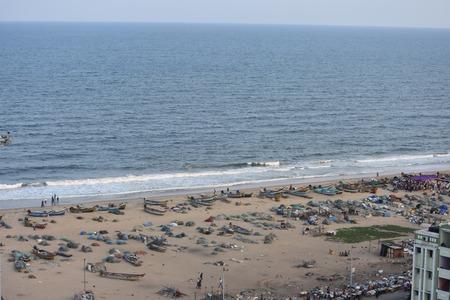 Chennai, Tamilnadu, India: January 26, 2019 - View from the Marina Lighthouse 写真素材