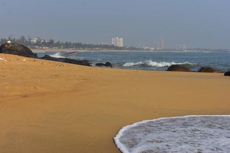 Chennai, Tamilnadu, India: Febrauary 15, 2019 - Covelong Beach in Chennai Stock Photo