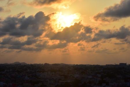 Chennai, Tamilnadu, India: January 26, 2019 - Chennai City Skyline at Sunset