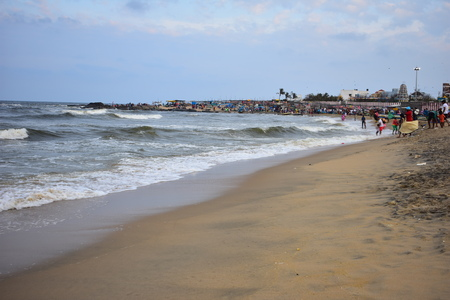 Kovalam Beach in East Coast Road Chennai Stock Photo