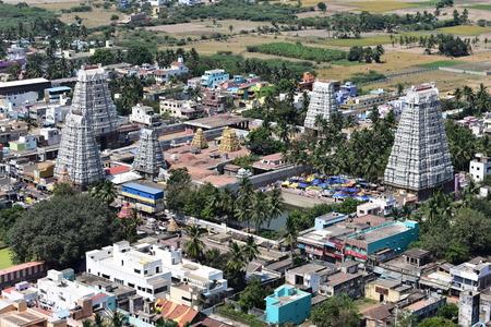 Chennai, Tamilnadu, India: April 14, 2019 - Aerial View Of Vedagiriswarar Temple