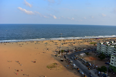 Chennai, Tamilnadu, India: January 26, 2019 - View from the Marina Lighthouse 写真素材