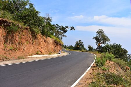 Road to Meghamalai Hills with Hairpin Bends