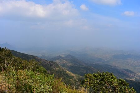 View of Cumbam Valley from Meghamalai Hills in Tamil Nadu