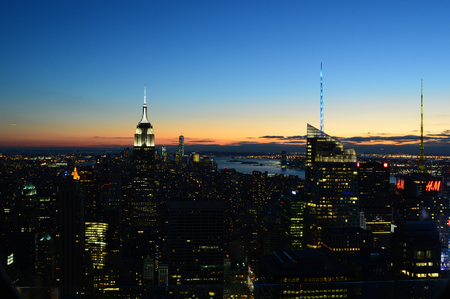 New York City, USA , December 14, 2014: New York City and the Empire State Building view from Rockefeller Center