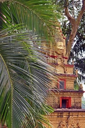 leu: Temple in Wat Leu, Cambodia Stock Photo