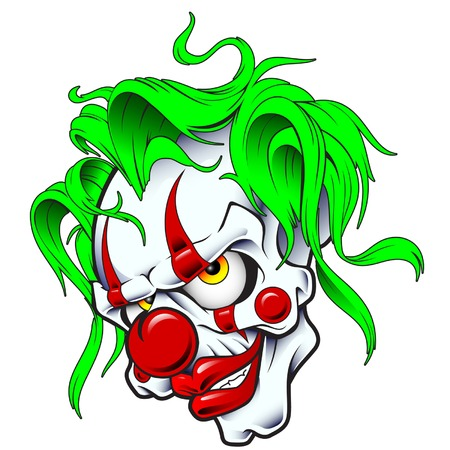 clowns: JOKER SKULL Illustration