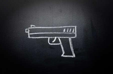 violencia: arma drenaje borrado en la pizarra - no hay concepto de la violencia