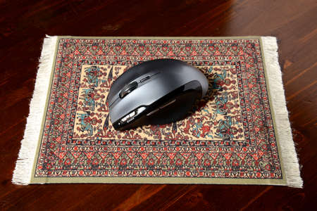 mouse pad: mouse on a real carpet pad
