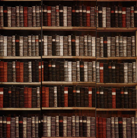 library background: vintage books in library background