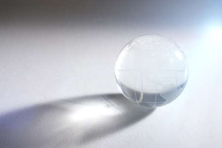 glass sphere: glass sphere with global map