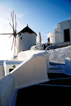 architectural tradition: santorini details and street view