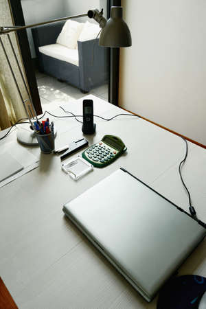 telecommuting: working at home on a clean desk