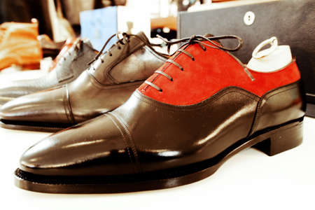 made by hand: man luxury hand made shoes