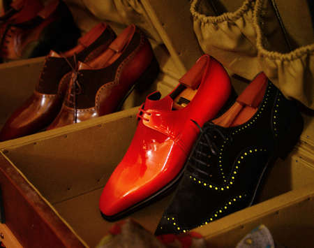 hand made: man luxury hand made red shoes
