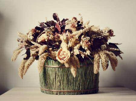 flores secas: composici�n de flores secas