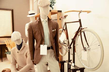 bespoke: Tailor verify bespoke suit Stock Photo