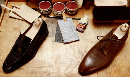 man in suite: man luxury hand made shoes