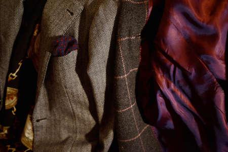 bespoke: bespoke coats and jackets Mens Stock Photo