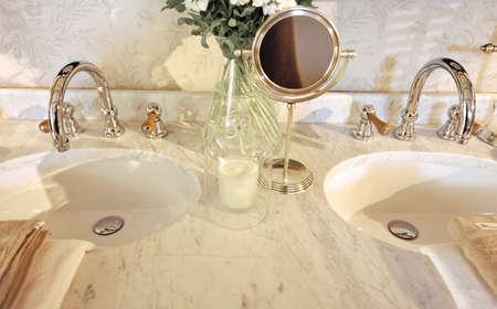 luxury bathroom: luxury marble bathroom Stock Photo